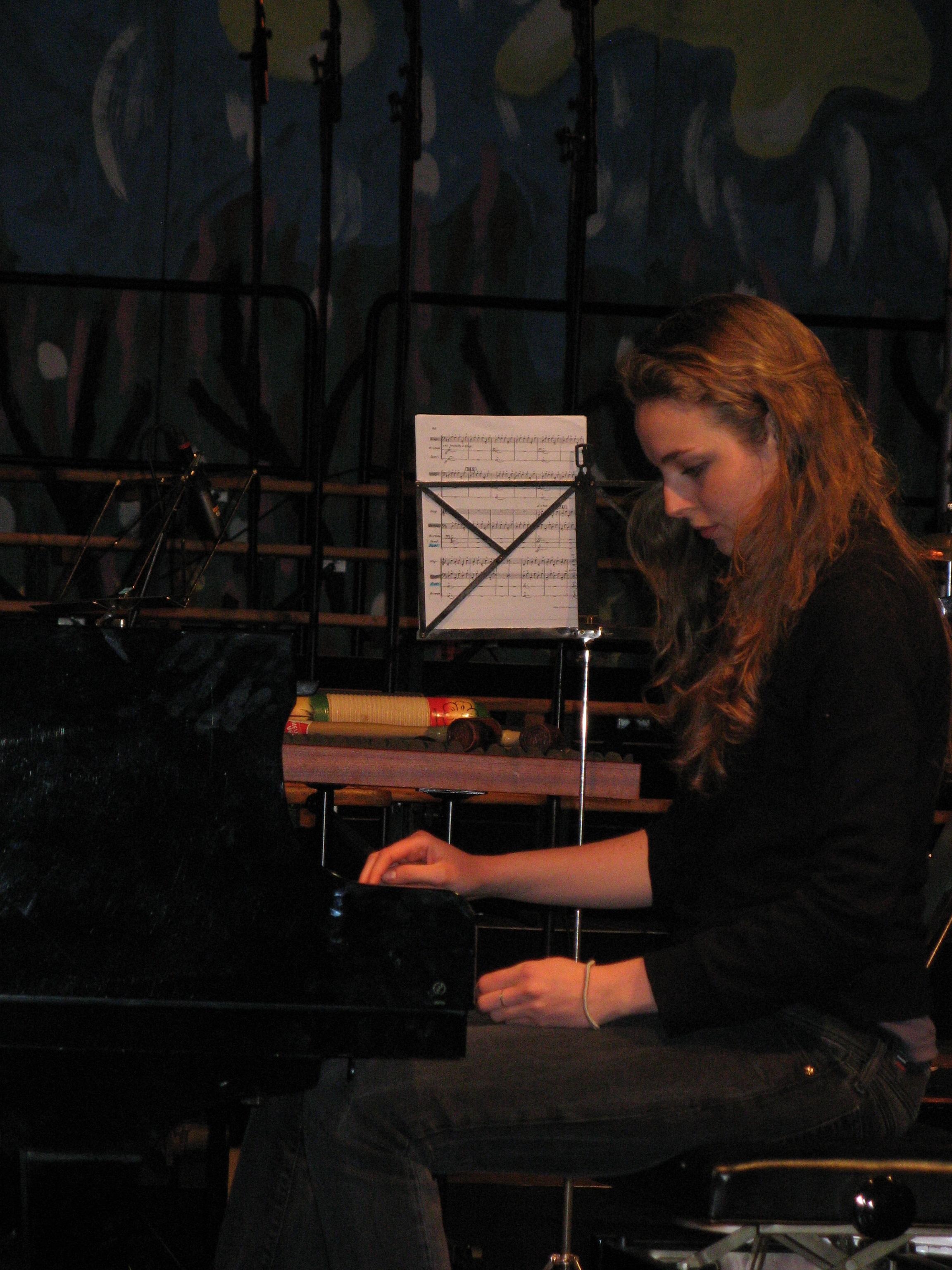 Inspelen voor concert Carmina Burana o.l.v. André Telderman