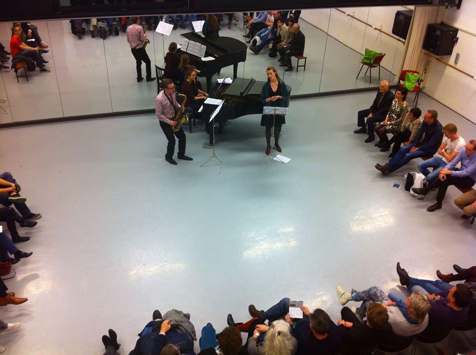 De nacht Duo klaver en riet en Kiki