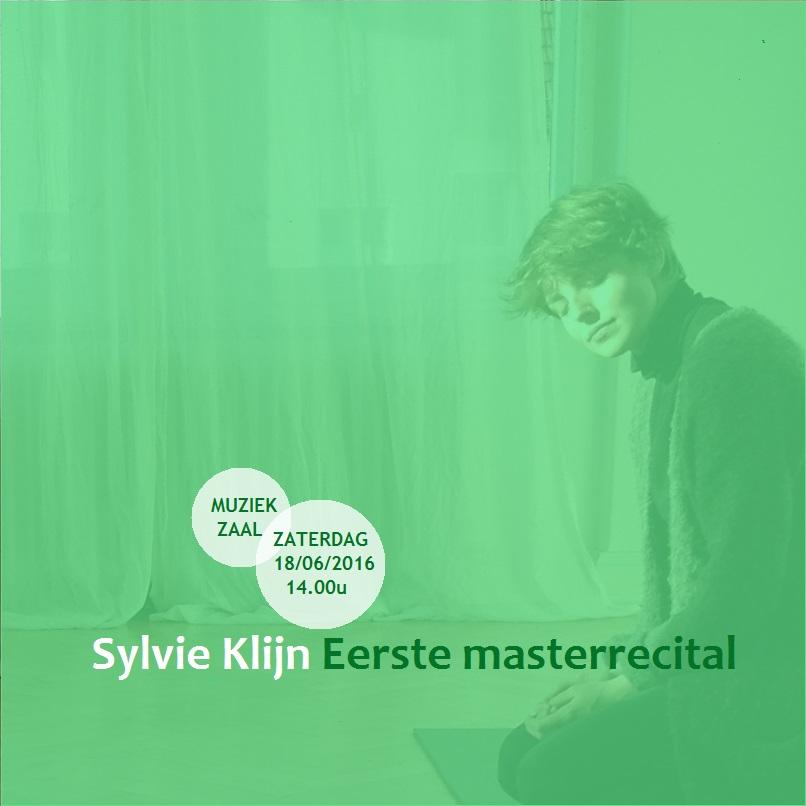 Eerste masterrecital poster